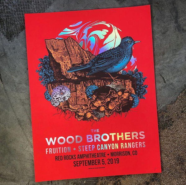 Wood Brothers - Red Rocks 19 (Rainbow Foil)