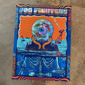 Foo Fighters 4/20 Knoxville Holographic Swirl Foil