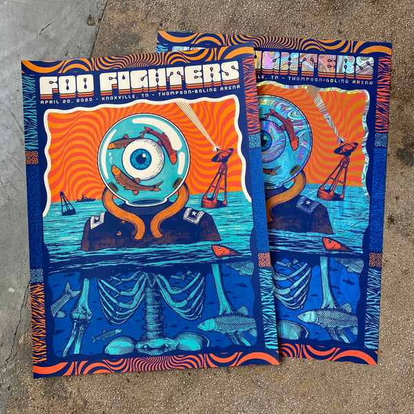Foo Fighters - Knoxville 4/20 Matching Numbered set