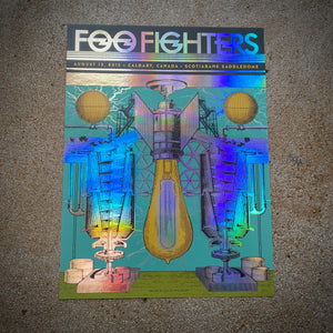 Foo Fighters - Calgary 2015 (Rainbow Foil) LAST 4!!!