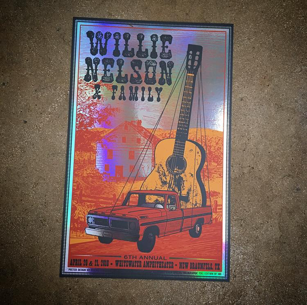 Willie Nelson-New Braunfels 18 (FOIL!!!)