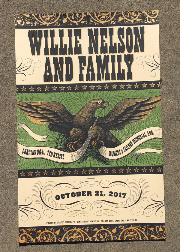 Willie Nelson - Chattanooga, TN 2017