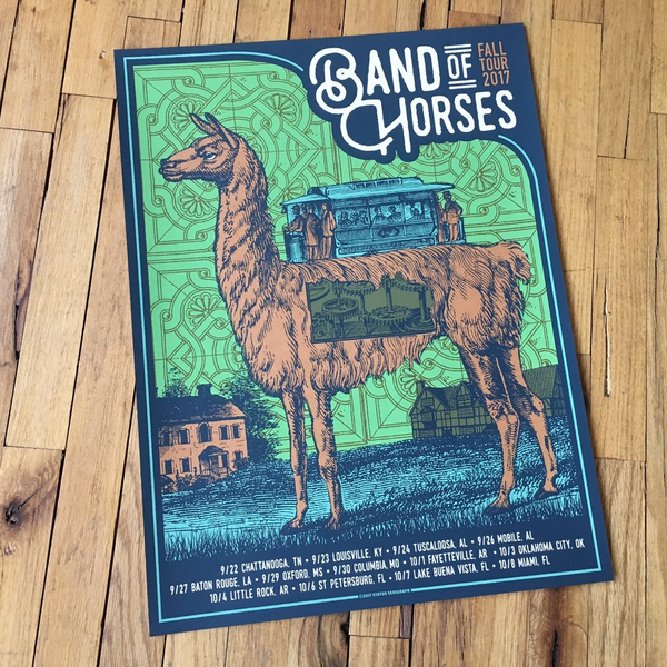 Band of Horses - Fall Tour 2017(Green)