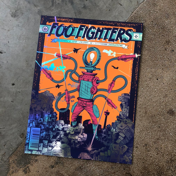 Foo Fighters Calgary Rainbow Foil