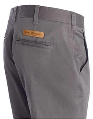 BRUUN & STENGADE FLASH SLIM FIT CHINO GREY 34 inch inseam