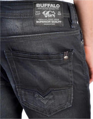 Buffalo Evan-x coated denim mens jeans