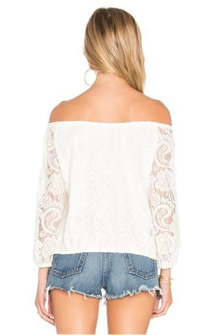 CUPCAKES & CASHMERE KARLA IVORY CROP