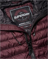 SUPER DRY CORE DOWN LIGHT WEIGHT HOODY PLUM