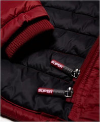 SUPER DRY TRIPLE ZIP QUILTED JACKET