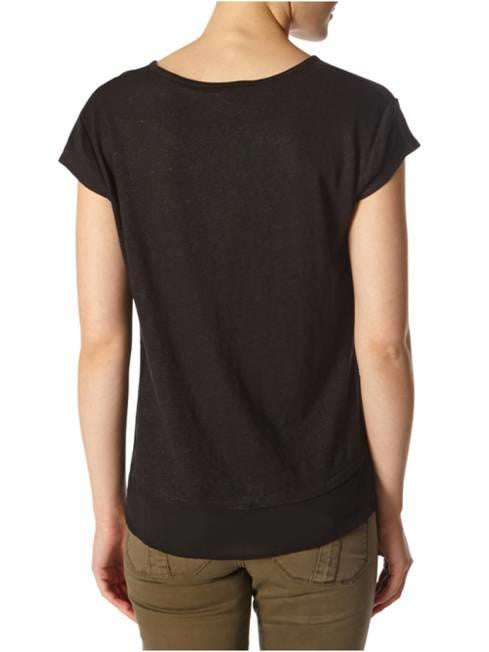 SANCTUARY CITY MIX TEE BLACK SLUB COTTON POCKET TSHIRT