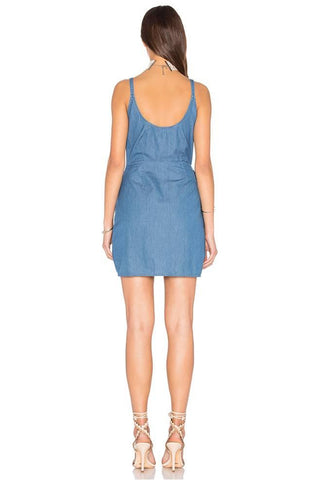 THE FIFTH LABEL ODESSEY WASHED INDIGO DRESS