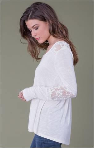 OTHERS FOLLOW JULIETTE JERSEY V NECK PULLOVER