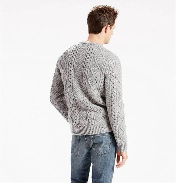 LEVIS FISHERMAN CABLE KNIT SWEATER