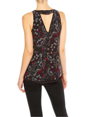 SANCTUARY MIDNIGHT PAISLEY TANK