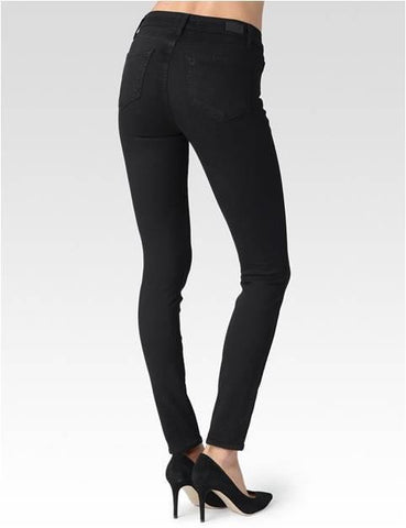 PAIGE HOXTON HIGH RISE SUPER SKINNY - BLACK SHADOW