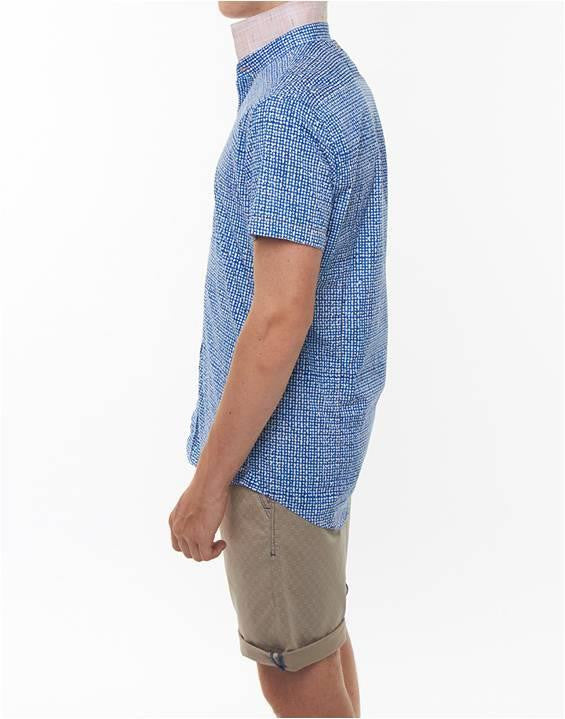 A FISH NAMED FRED DOTS SLIM FIT SHORT SLEEVE