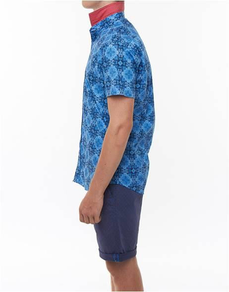 A FISH NAMED FRED BAROK SLIM FIT SHORT SLEEVE
