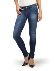 MAVI MIDRISE ADRIANA SUPER SKINNY DARK WASH LIGHT FADE