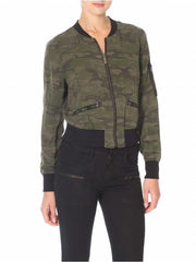 SANCTUARY SHRUNKEN BOMBER JACKET IN CAMO