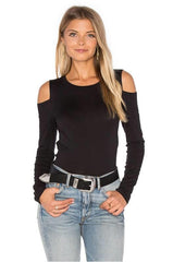 Velvet zabana cold shoulder top