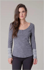 BLACK SWAN HARLYN RIBBED HENLEY GREY