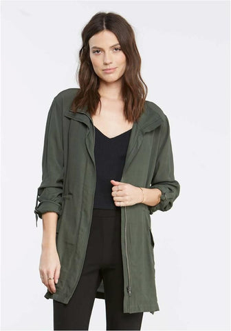 BB DAKOTA  ARMY GREEN ROMPER JACKET