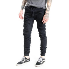 KUWALLA TEE JOGGER JEANS BLACK DENIM TERRY CLOTH