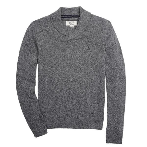 ORIGINAL PENGUIN BOAT NECK KNIT WOOL SWEATER