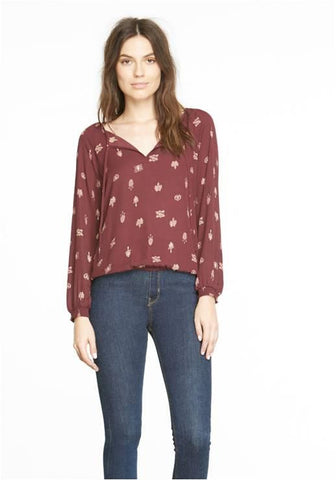 BB DAKOTA BOYSENBERRY BLOUSE