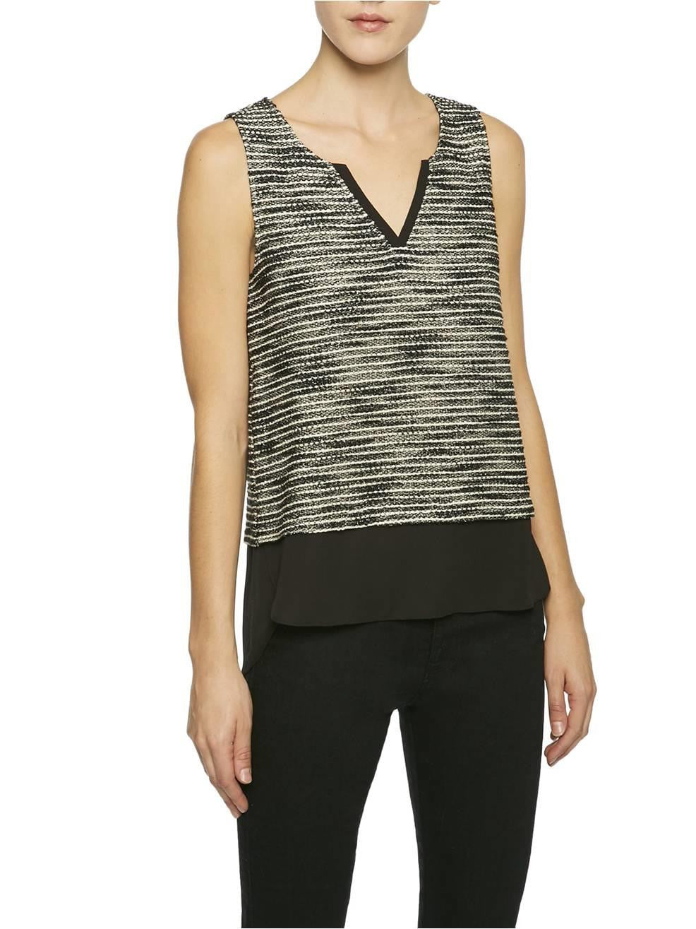 SANCTUARY AUTUMN SHELL KNIT TANK