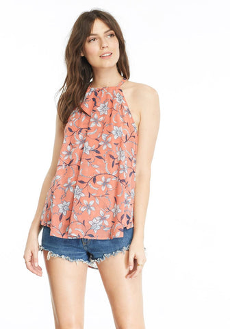 BB DAKOTA WENDY CORAL FLOWERED TANK