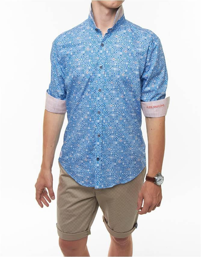 A FISH NAMED FRED MOSAIC PRINTED SHIRT
