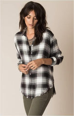 WHITE CROW NATIVE PLAID BLACK