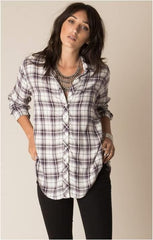 WHITE CROW STAR WEST PLUM PLAID