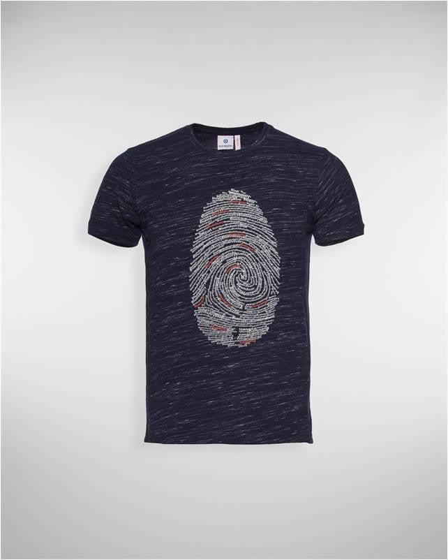 BLUE INDUSTRY THUMBPRINT GRAPHIC TEE