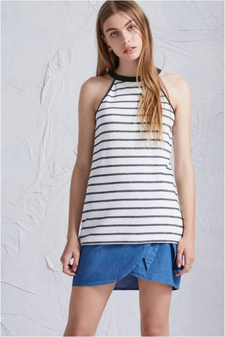 THE FIFITH LABEL 3 DAYS TOP NAVY STRIPE