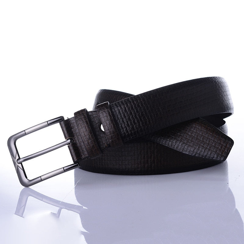 Vintage Textured Leather Belt - Wish Saint