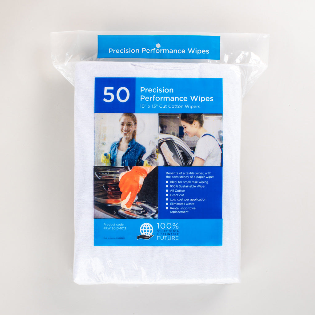 White Cotton Precision Performance Wipes Large-image-1