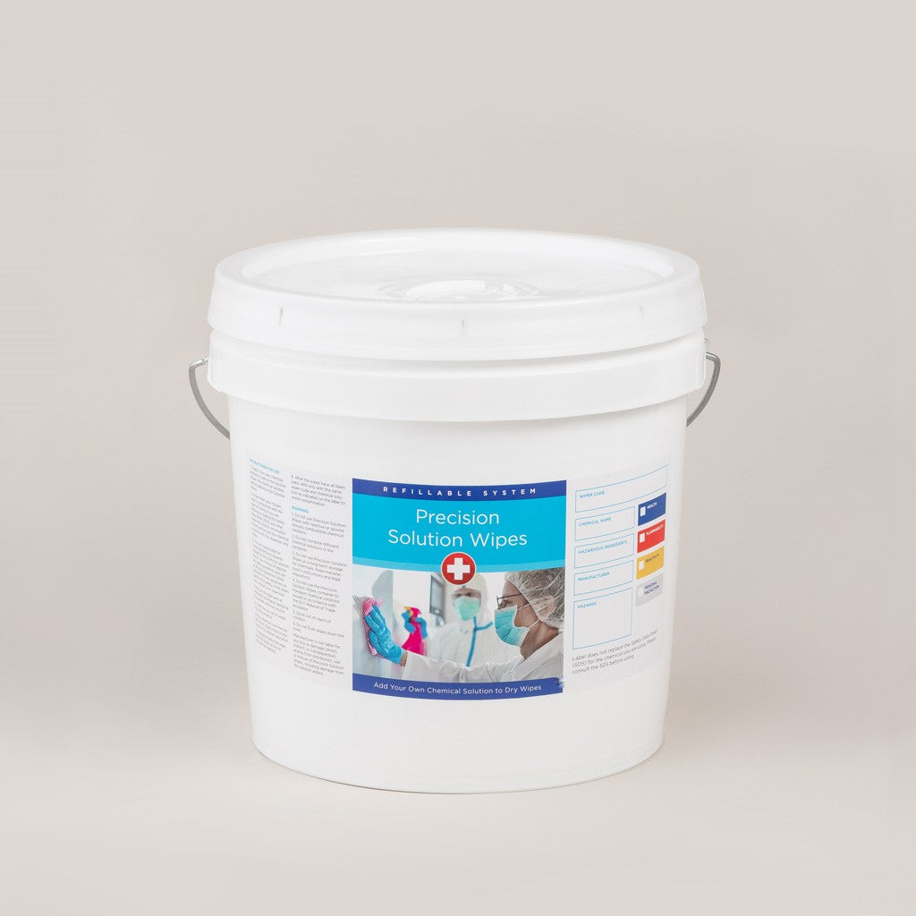 Precision Solution Dry Wipe Re-usable Canister & Buckets-image-2