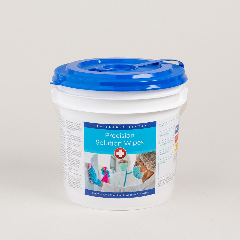 Precision Solution Dry Wipe Re-usable Canister & Buckets-image-1