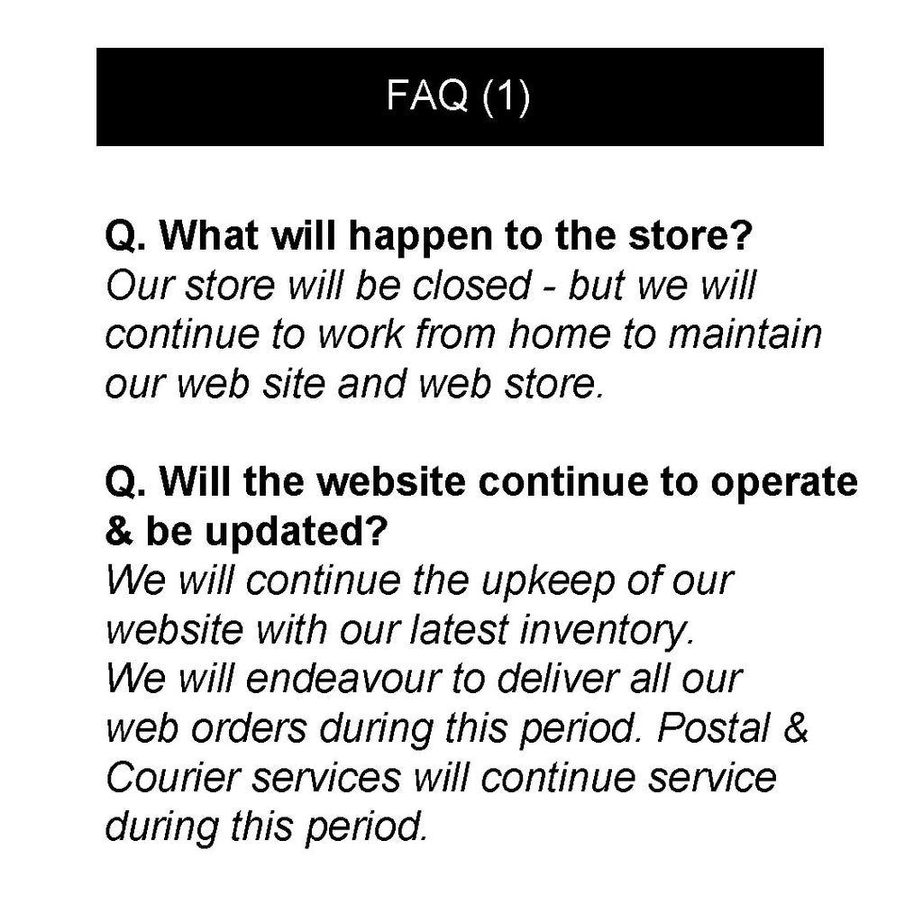 FAQ - Temporary Closure (1)