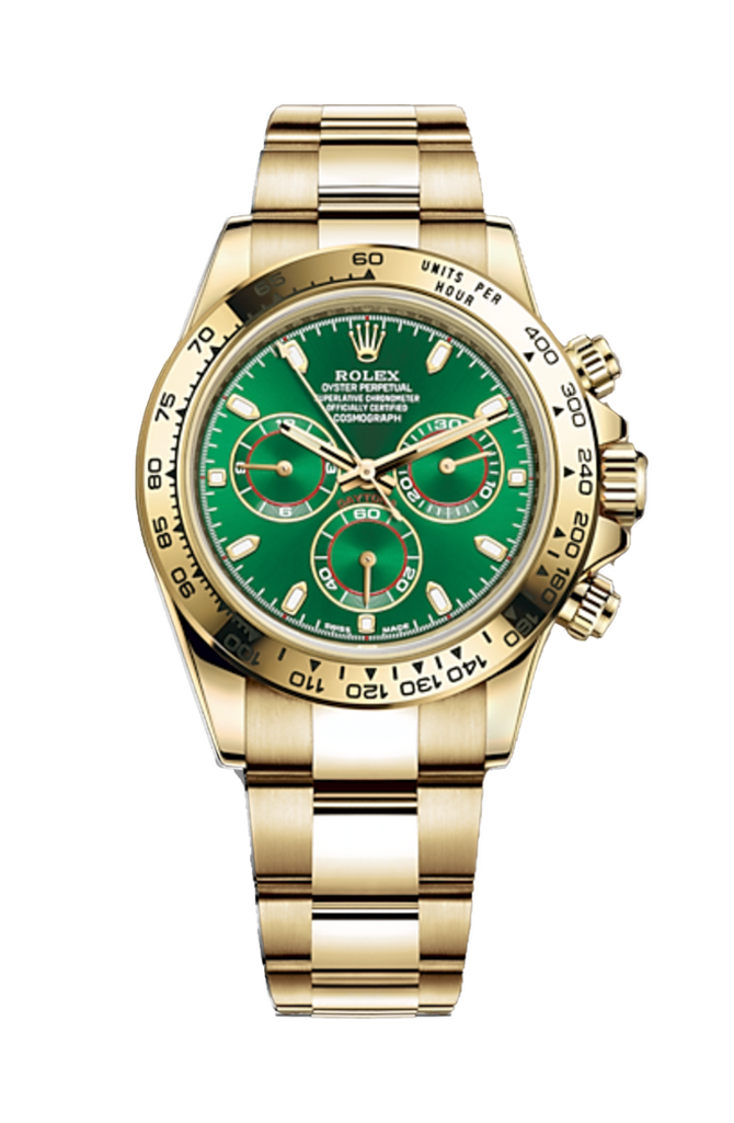 Rolex Cosmograph Daytona Yellow Gold - Green Dial 116508