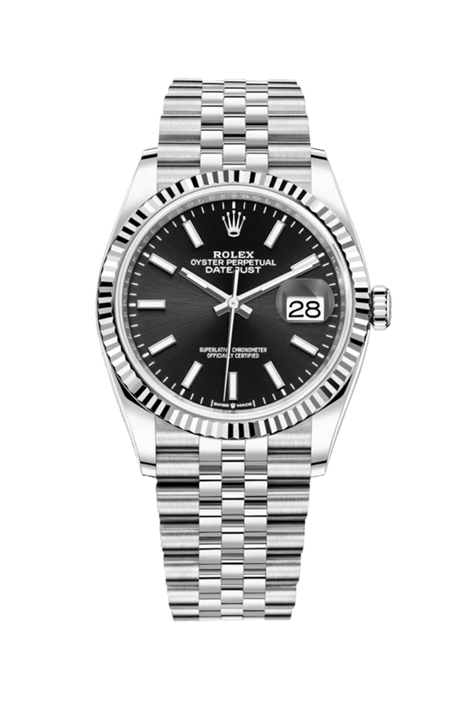 Rolex Datejust 36mm Black Dial on Jubilee Bracelet 126234