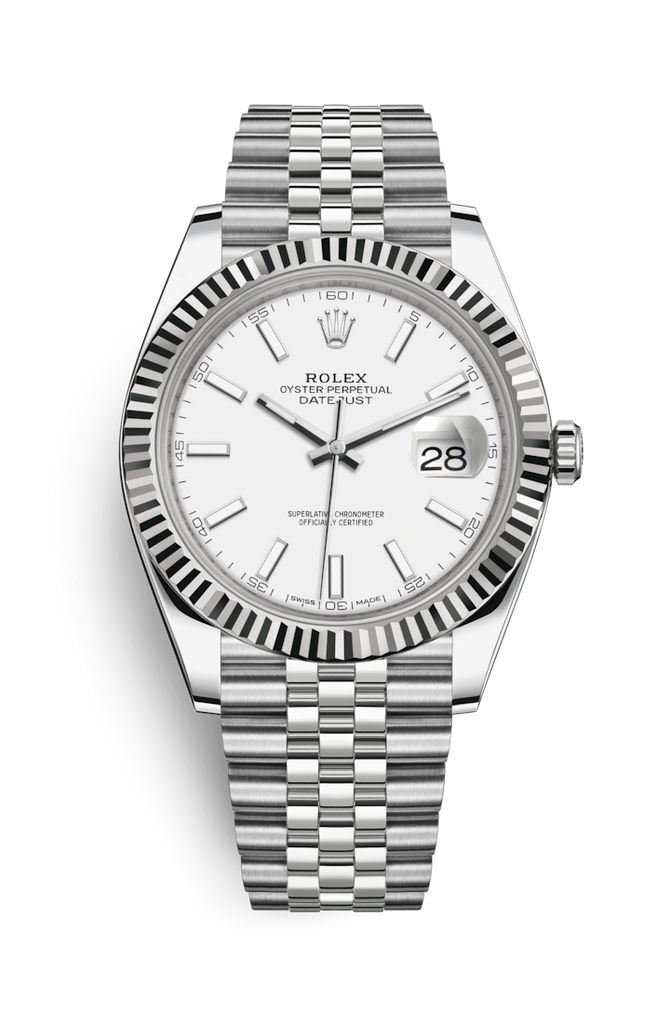 Rolex Datejust 41mm White Dial on Jubilee Bracelet 126334