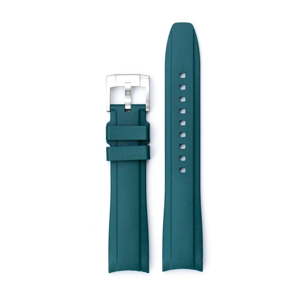 Everest Curved End Rubber Strap with Tang Buckle - EH5 - For Seadweller, Milgauss, Air King