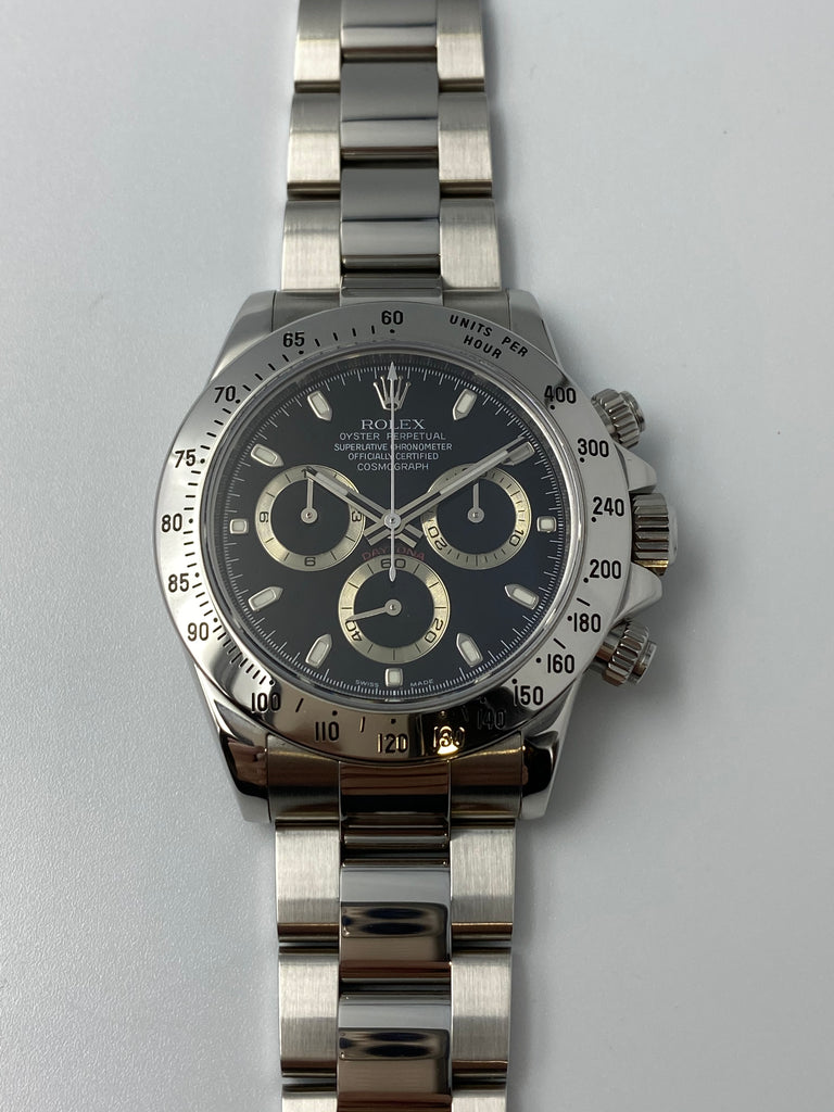 Rolex Cosmograph Daytona Steel 2007 - Black Dial 116520 [Preowned]