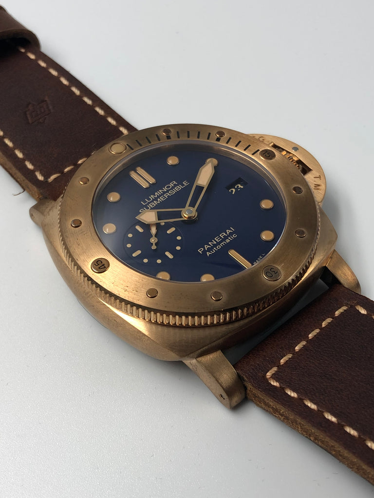 Panerai Submersible 1950 3 Days Blue Bronzo Special Edition PAM00671