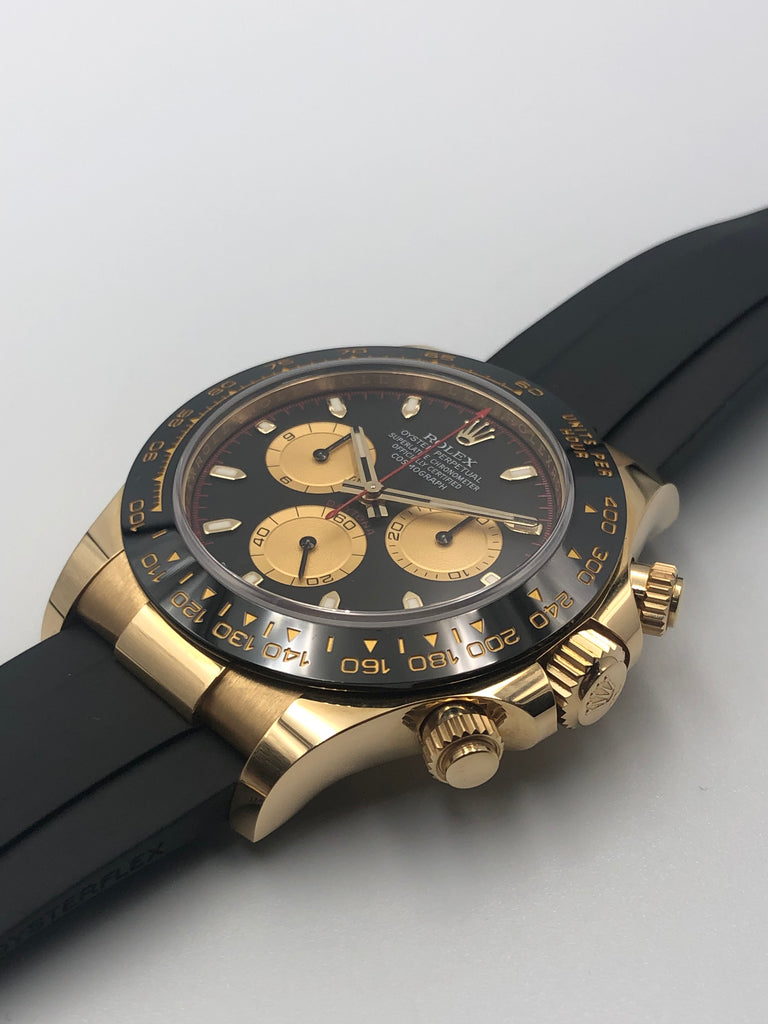 Rolex Cosmograph Daytona Yellow Gold on Oysterflex 116518LN 2018 [Preowned]