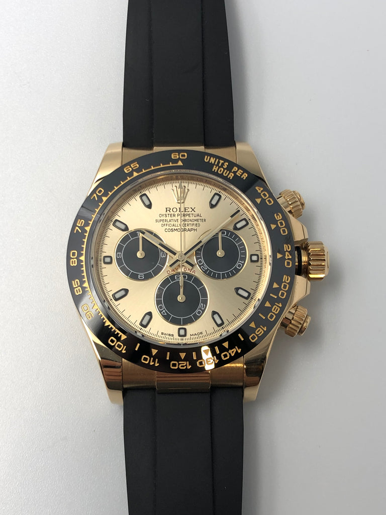 Rolex Cosmograph Daytona Yellow Gold on Oysterflex 116518LN 2017 [Preowned]