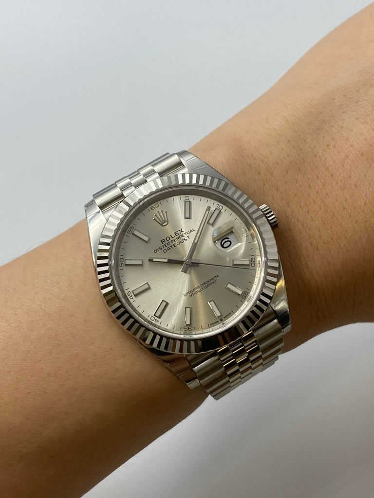 Rolex Datejust 41mm Silver Dial on Jubilee Bracelet 126334